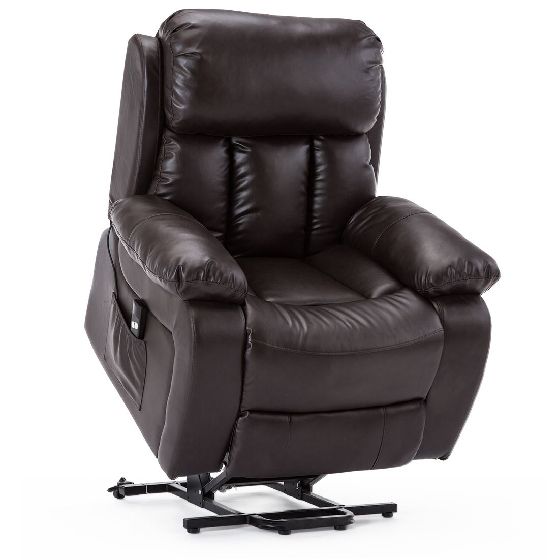 CHESTER-ELECTRIC-RISE-LEATHER-RECLINER-POWER-ARMCHAIR-HEATED-MASSAGE-SOFA-CHAIR thumbnail 14