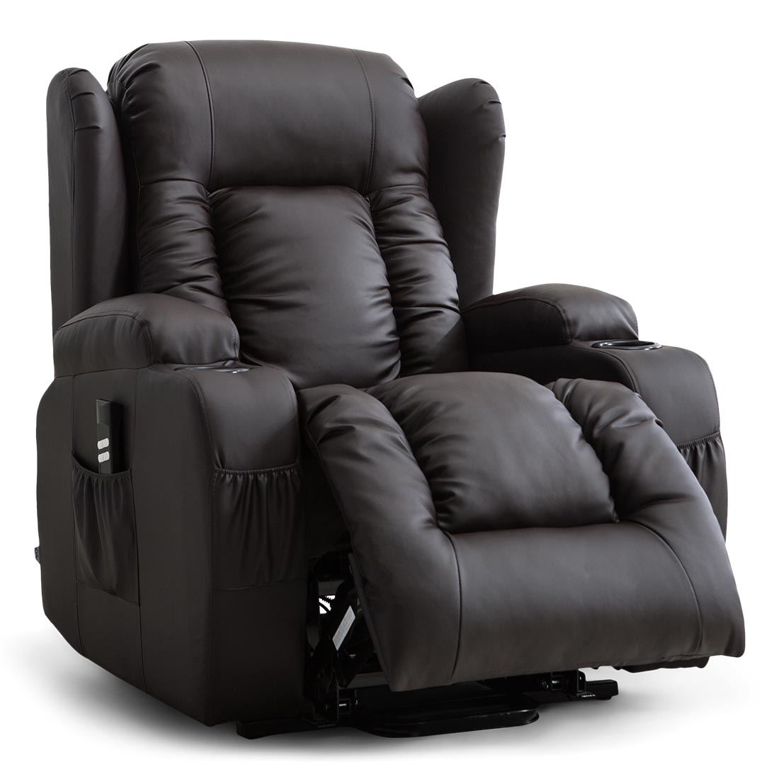 CAESAR-DUAL-MOTOR-RISER-RECLINER-LEATHER-MOBILITY-ARMCHAIR-MASSAGE-HEATED-CHAIR thumbnail 11