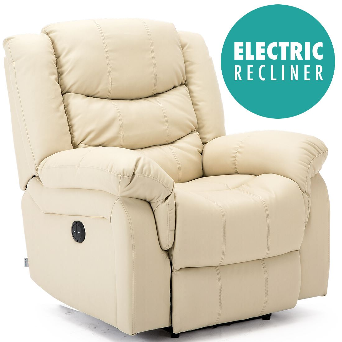 Perfect SEATTLE ELECTRIC LEATHER AUTO RECLINER ARMCHAIR SOFA HOME LOUNGE CHAIR