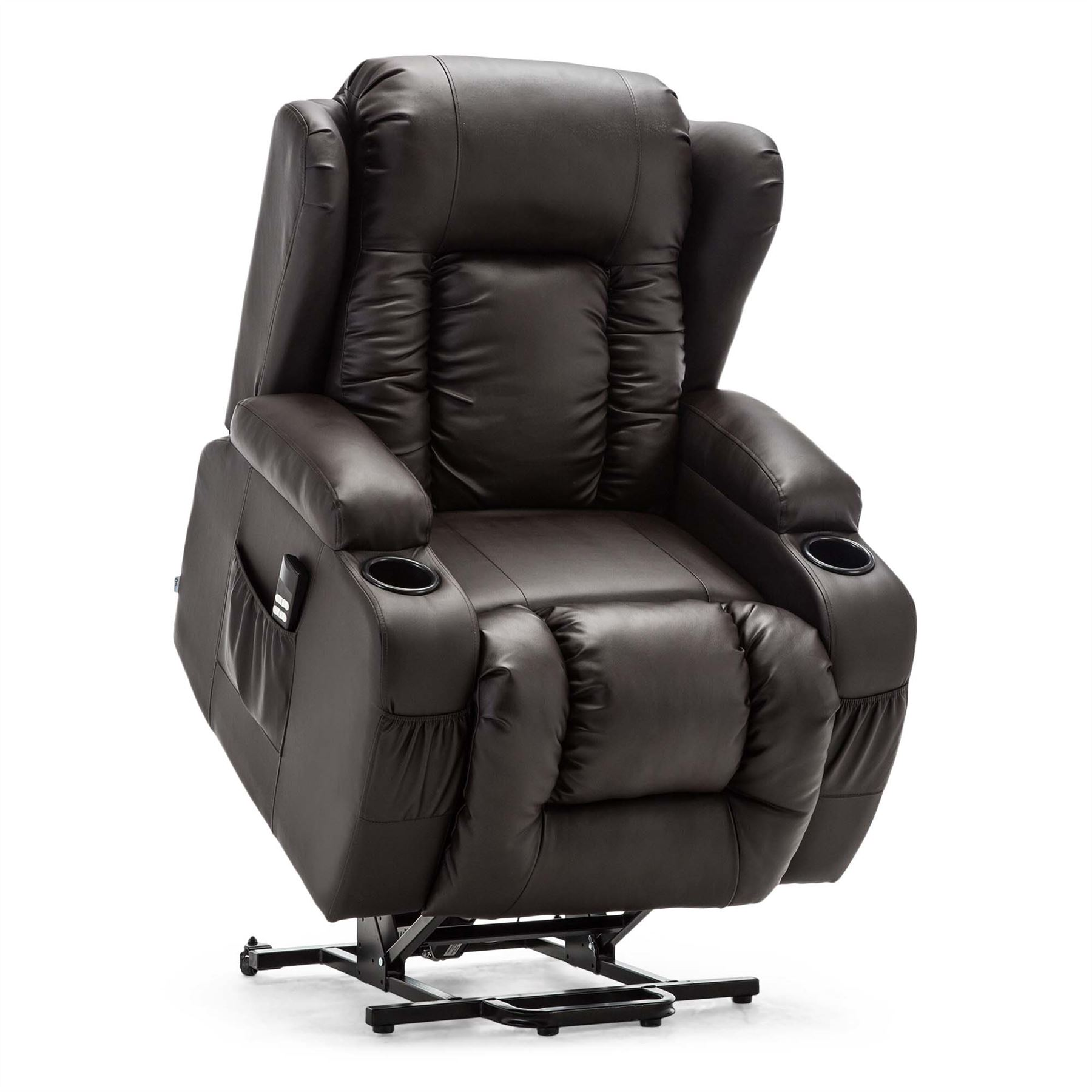 CAESAR-DUAL-MOTOR-RISER-RECLINER-LEATHER-MOBILITY-ARMCHAIR-MASSAGE-HEATED-CHAIR thumbnail 10