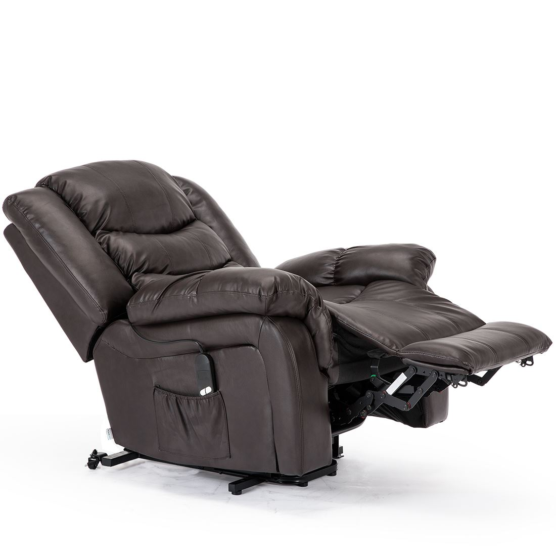 SEATTLE-ELECTRIC-RISE-REAL-LEATHER-RECLINER-ARMCHAIR-SOFA-HOME-LOUNGE-CHAIR thumbnail 15
