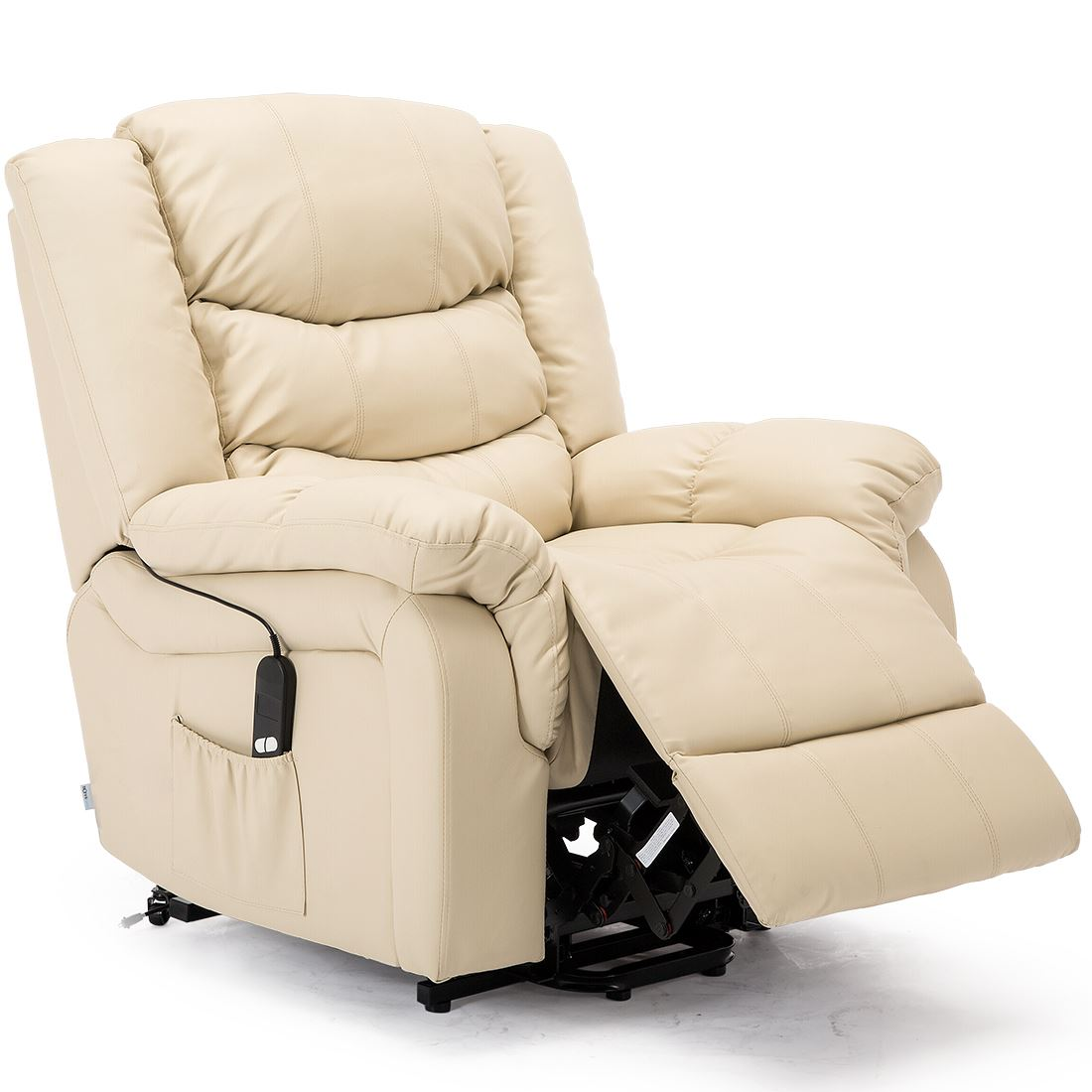 SEATTLE-ELECTRIC-RISE-REAL-LEATHER-RECLINER-ARMCHAIR-SOFA-HOME-LOUNGE-CHAIR thumbnail 24