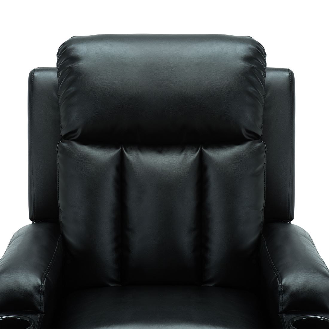 STUDIO-LEATHER-RECLINER-w-DRINK-HOLDERS-ARMCHAIR-SOFA-CHAIR-CINEMA-GAMING thumbnail 9