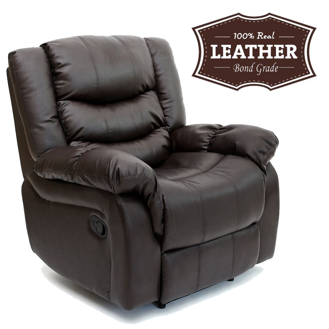 Sofa Bed Ebay Sydney: SEATTLE LEATHER RECLINER ARMCHAIR SOFA HOME LOUNGE CHAIR