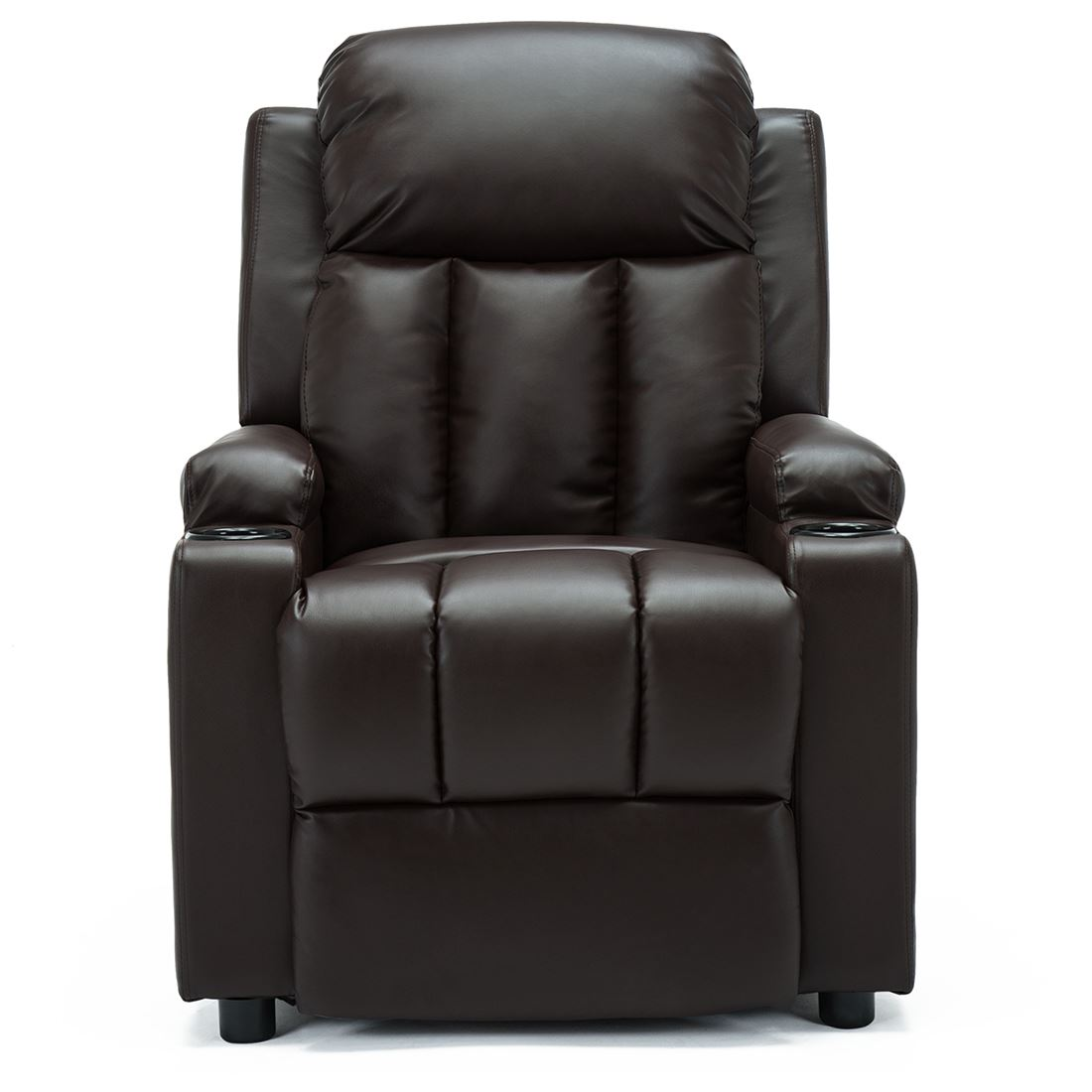 STUDIO-LEATHER-RECLINER-w-DRINK-HOLDERS-ARMCHAIR-SOFA-CHAIR-CINEMA-GAMING thumbnail 18