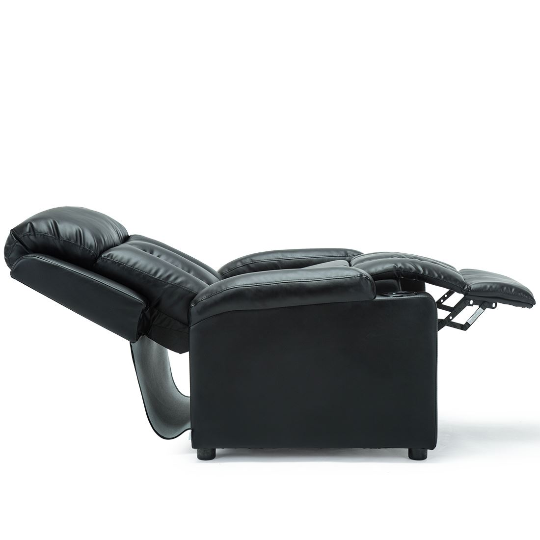 STUDIO-LEATHER-RECLINER-w-DRINK-HOLDERS-ARMCHAIR-SOFA-CHAIR-CINEMA-GAMING thumbnail 6