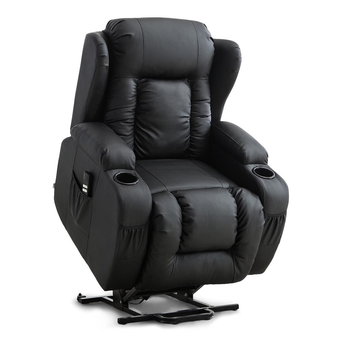 CAESAR-DUAL-MOTOR-RISER-RECLINER-LEATHER-MOBILITY-ARMCHAIR-MASSAGE-HEATED-CHAIR thumbnail 3