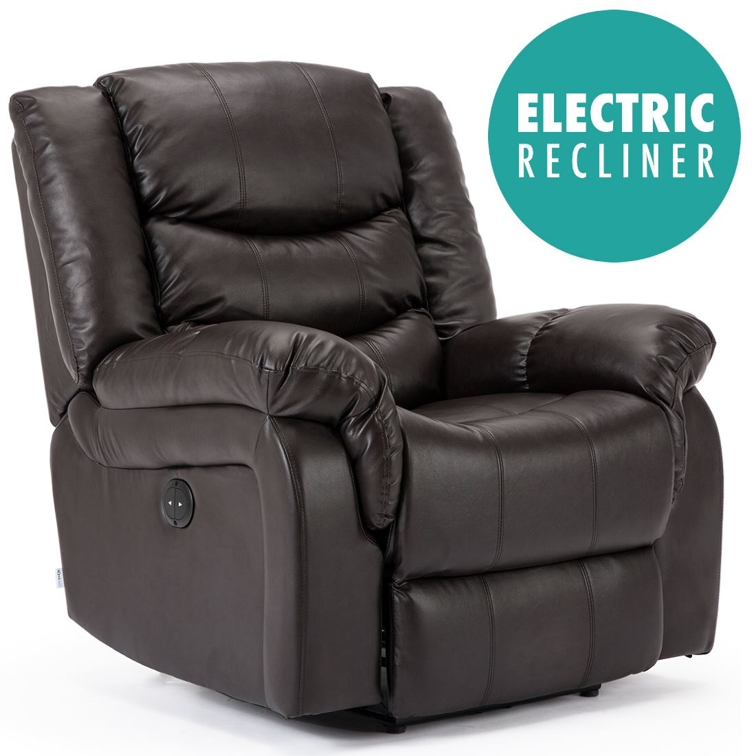 SEATTLE ELECTRIC LEATHER AUTO RECLINER ARMCHAIR SOFA HOME ...