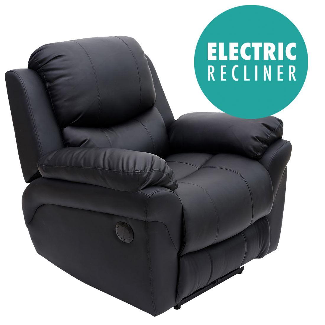 Leather Electric Recliner Sofa Uk: MADISON ELECTRIC REAL LEATHER AUTO RECLINER ARMCHAIR SOFA