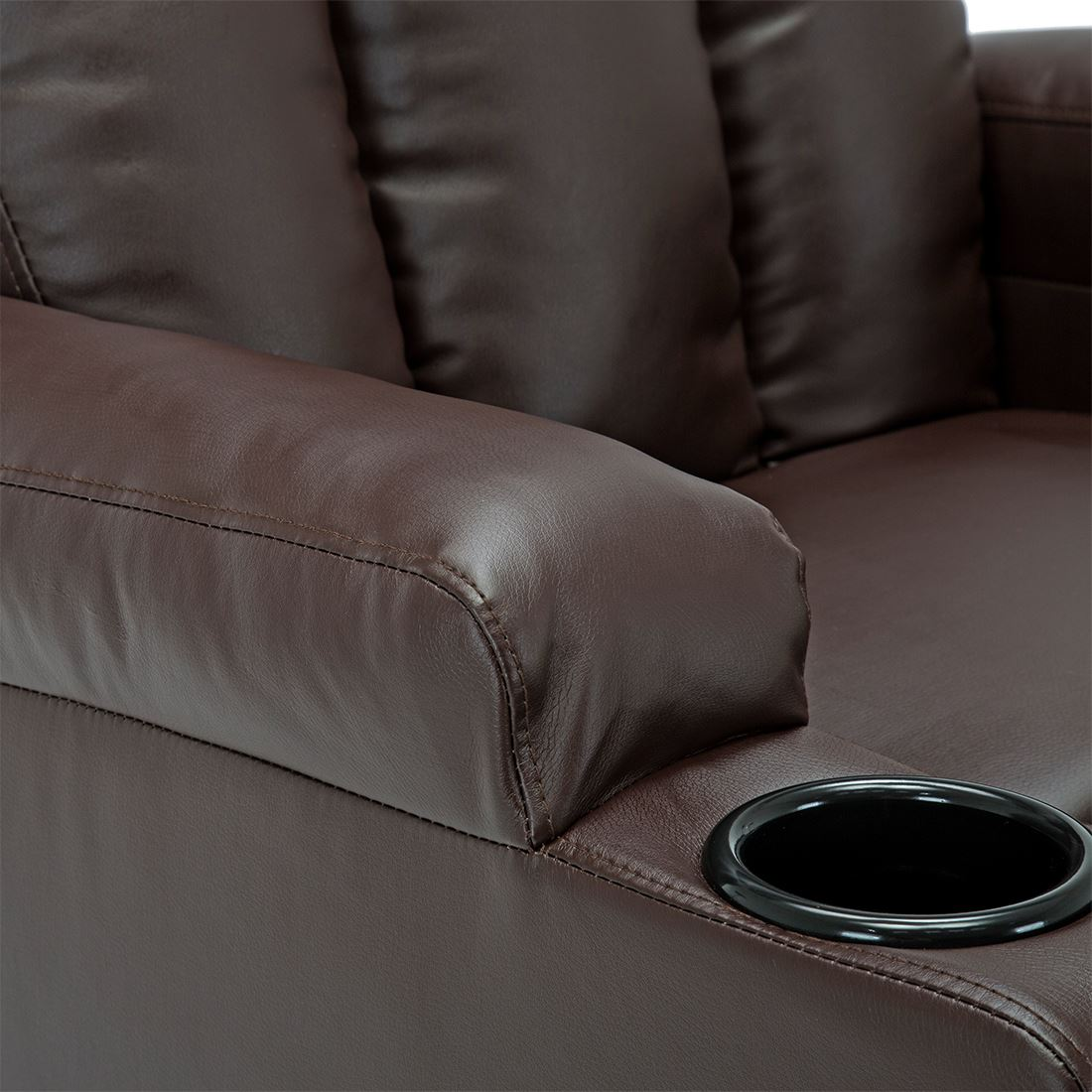 STUDIO-LEATHER-RECLINER-w-DRINK-HOLDERS-ARMCHAIR-SOFA-CHAIR-CINEMA-GAMING thumbnail 17