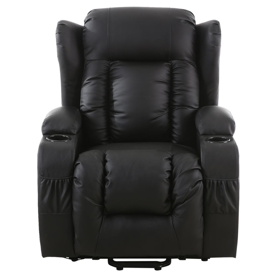 CAESAR ELECTRIC RISE RECLINER WINGED LEATHER ARMCHAIR ...