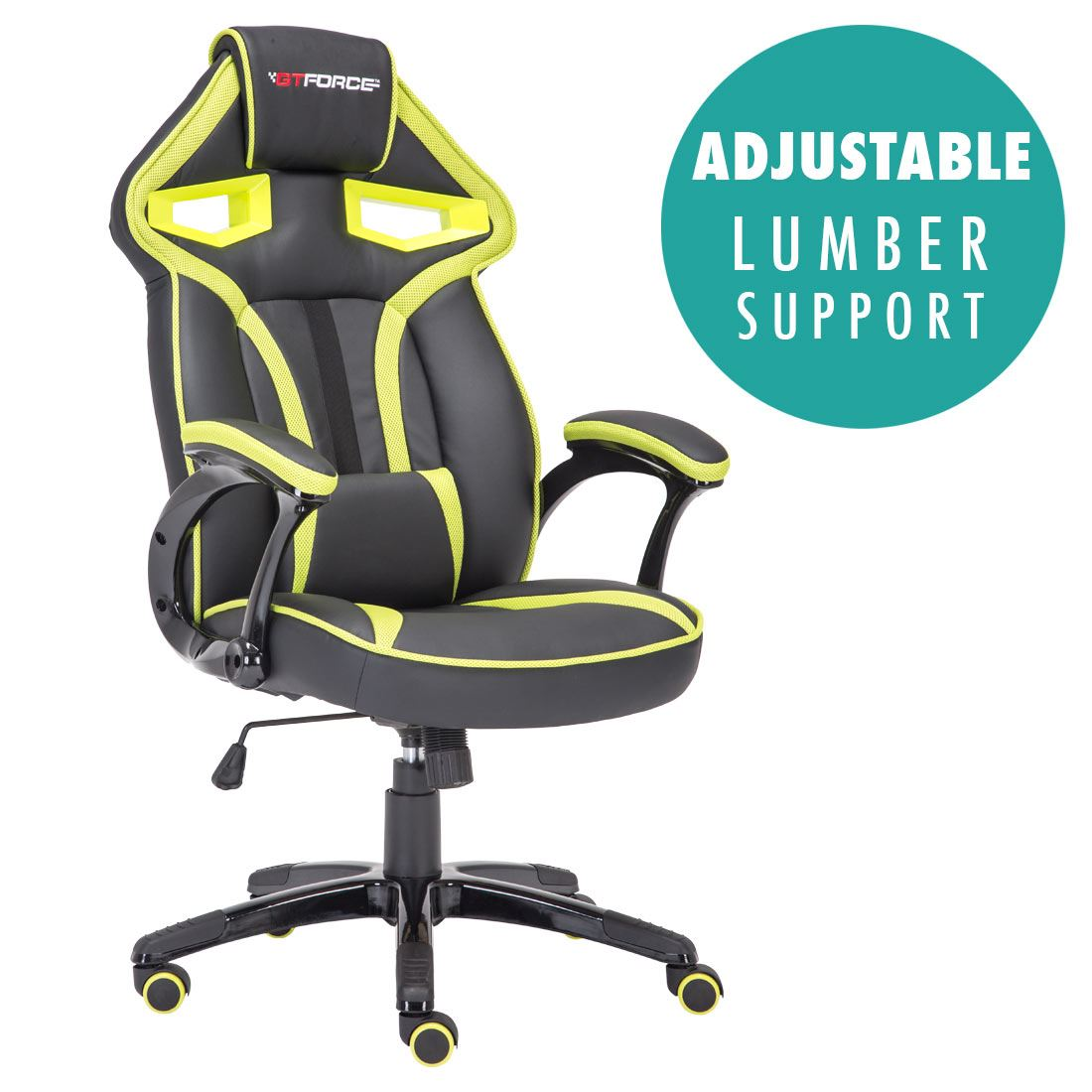 GTFORCE-ROADSTER-1-SPORT-RACING-CAR-OFFICE-GAMING-CHAIR-LEATHER-LUMBER-SUPPORT