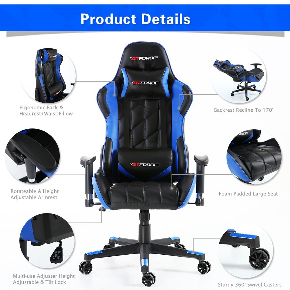 GTFORCE-PRO-GT-RECLINING-SPORTS-RACING-GAMING-OFFICE-DESK-PC-CAR-LEATHER-CHAIR
