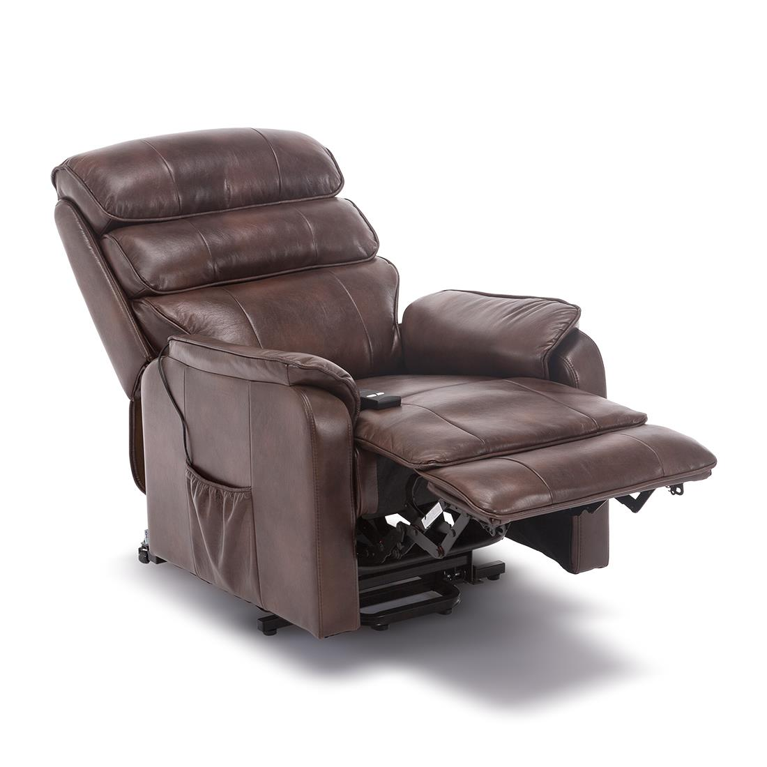 Details about BUCKINGHAM DUAL MOTOR ELECTRIC RISER RECLINER BOND LEATHER MOBILITY LIFT CHAIR