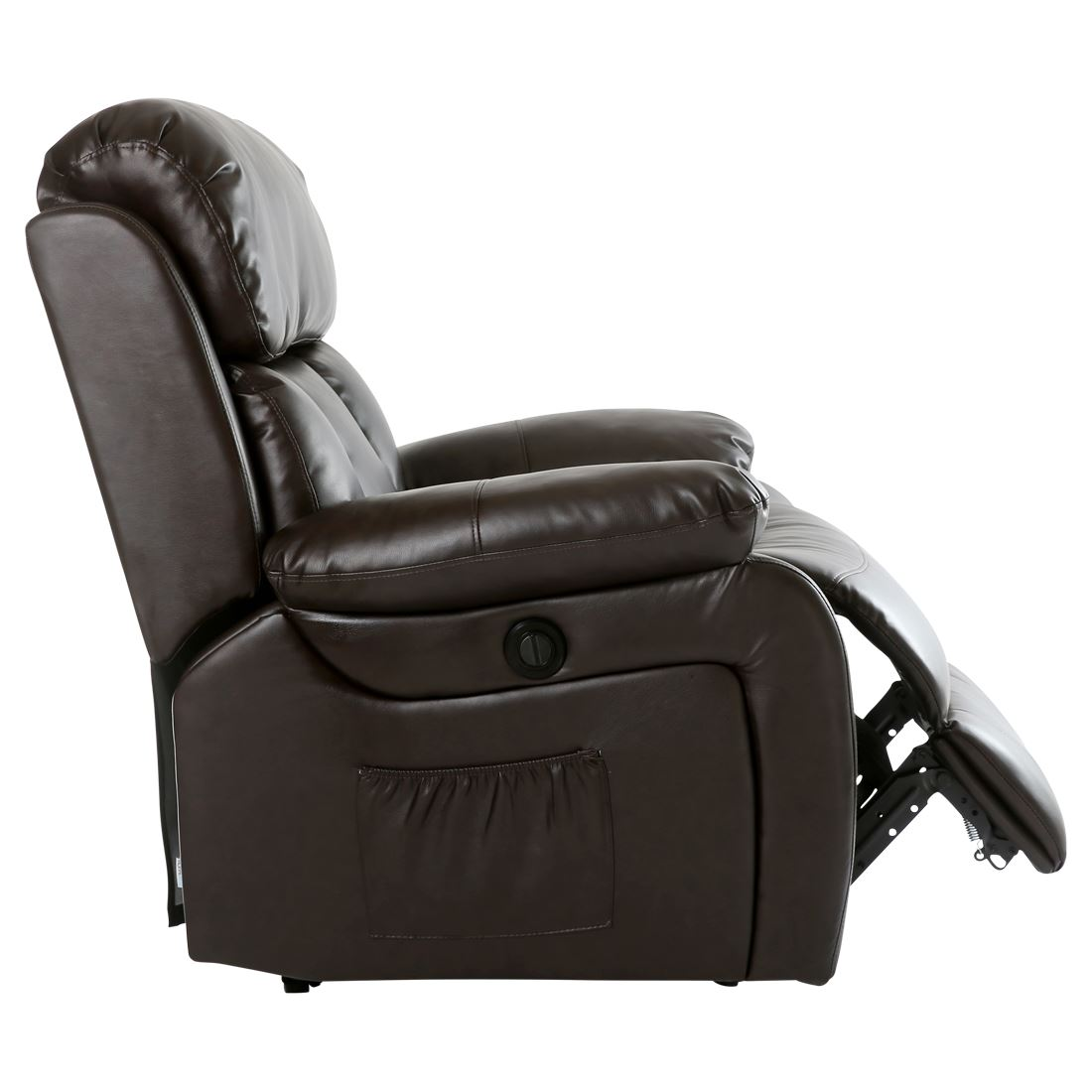 CHESTER ELECTRIC HEATED LEATHER MASSAGE RECLINER CHAIR SOFA