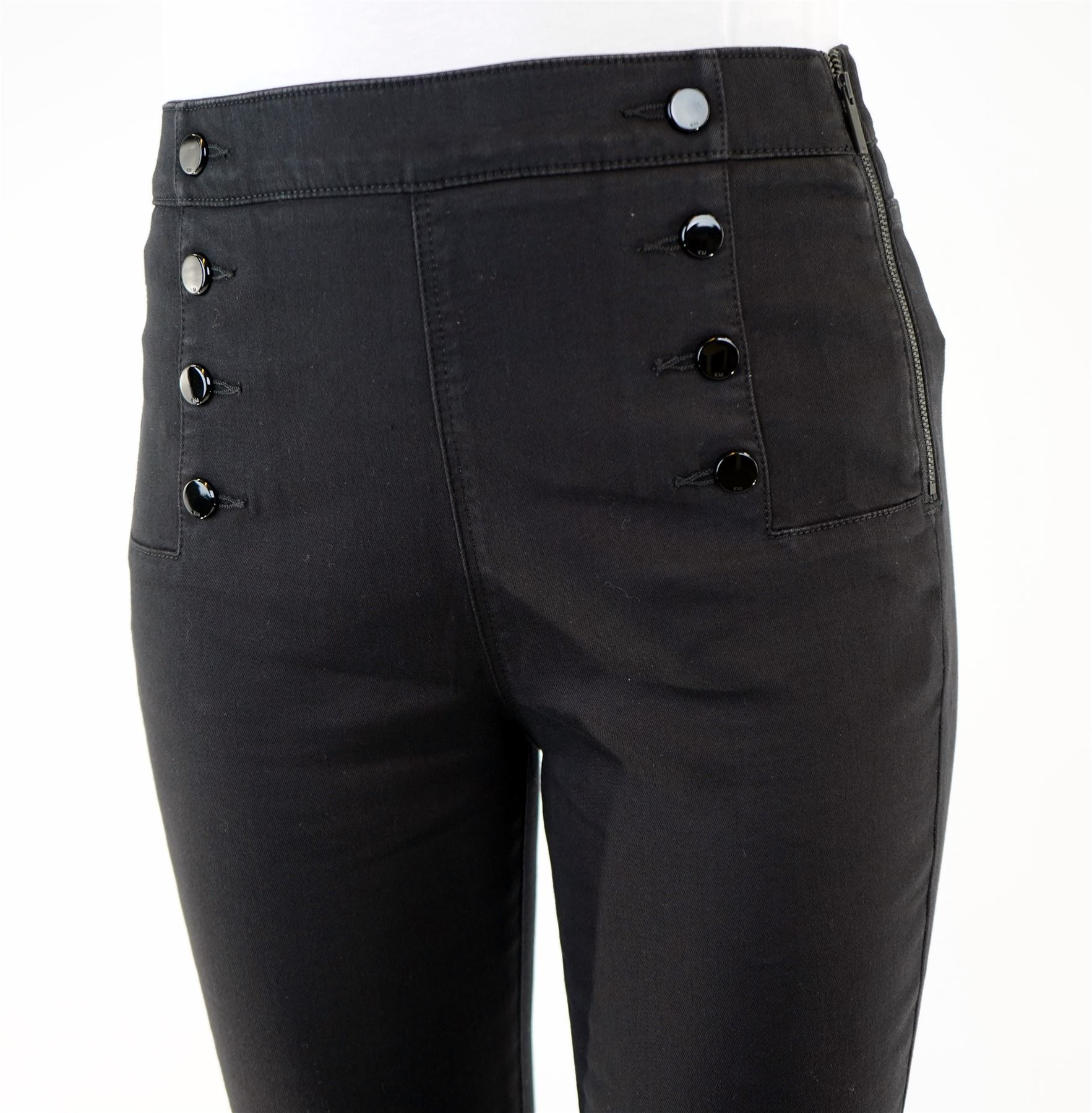 thumbnail 36 - Karen Millen Womens Casual Black Denim Button Jegging Ladies Jean Stylish Gift