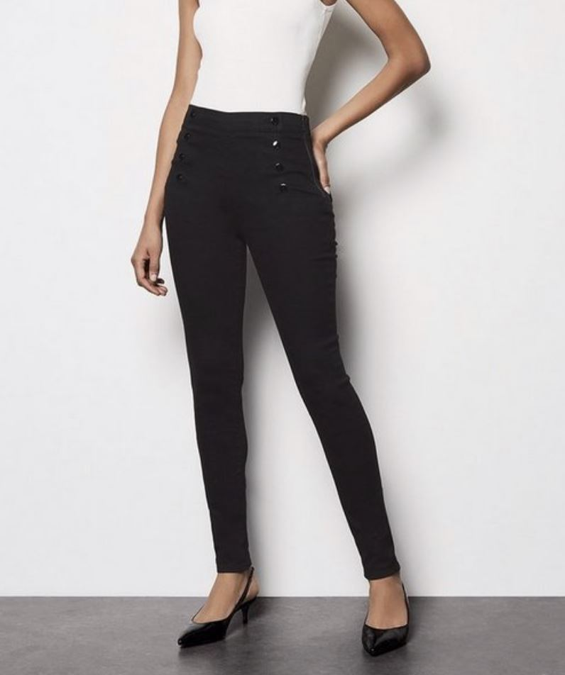 thumbnail 39 - Karen Millen Womens Casual Black Denim Button Jegging Ladies Jean Stylish Gift