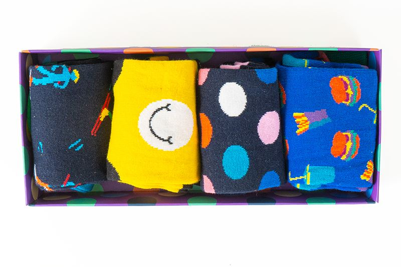 thumbnail 13 - Mens Gift Boxed Socks Happy Socks 4 Pair Pack DAD FATHERS DAY Size 7½ – 11½ UK