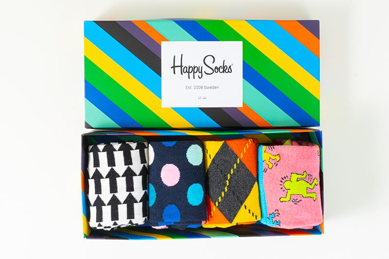 thumbnail 16 - Mens Gift Boxed Socks Happy Socks 4 Pair Pack DAD FATHERS DAY Size 7½ – 11½ UK