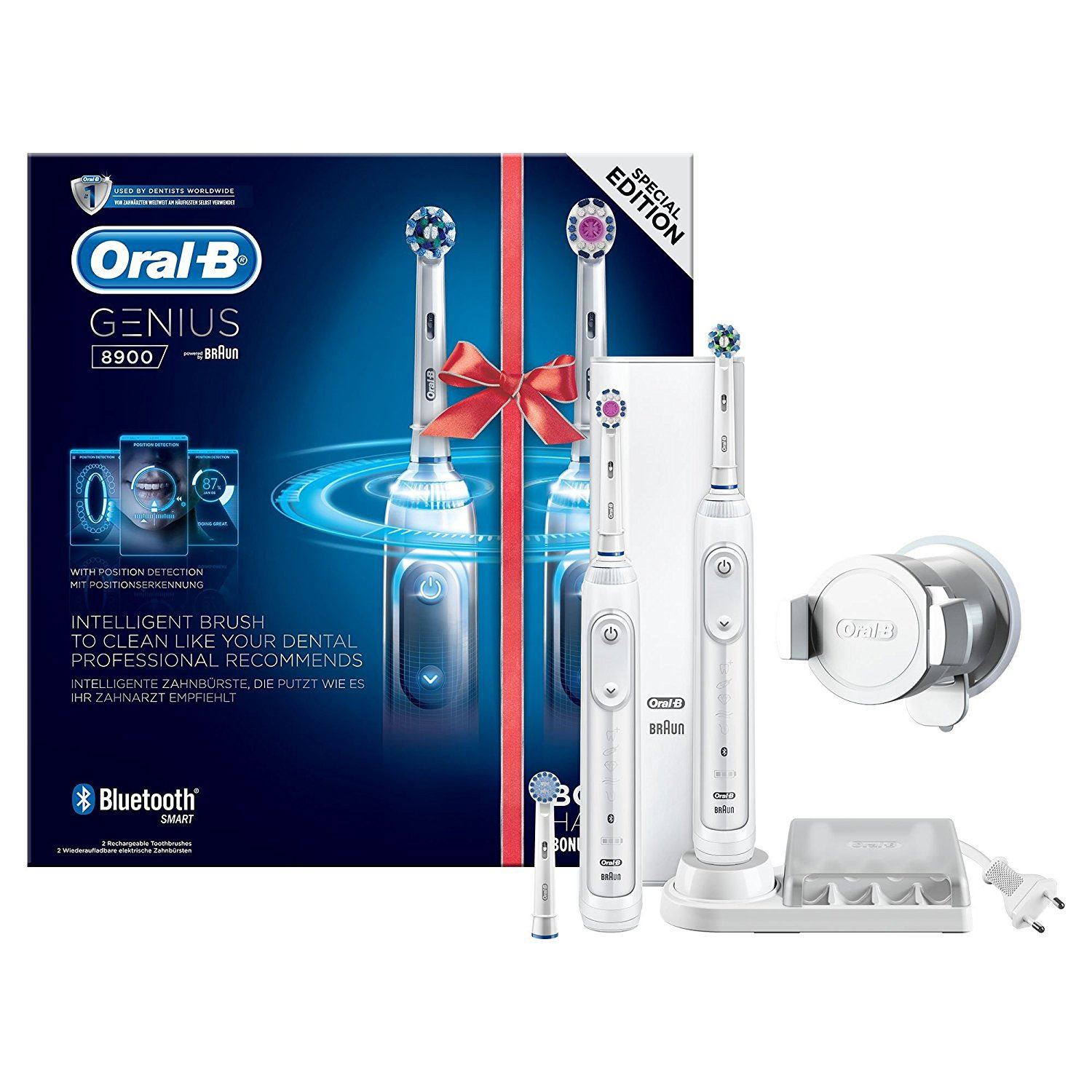 2 X Braun Oral B Genius 8900 Electric Rechargeable Power