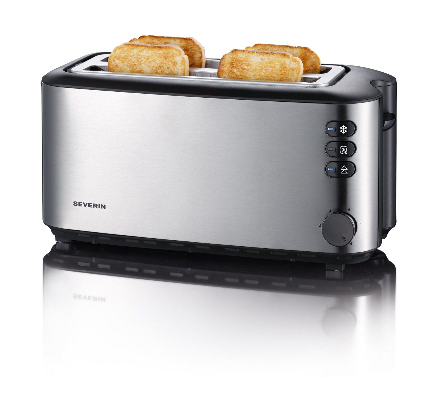 severin automatic long slot toaster 4 slice 1400w brushed stainless steel at2509 ebay. Black Bedroom Furniture Sets. Home Design Ideas