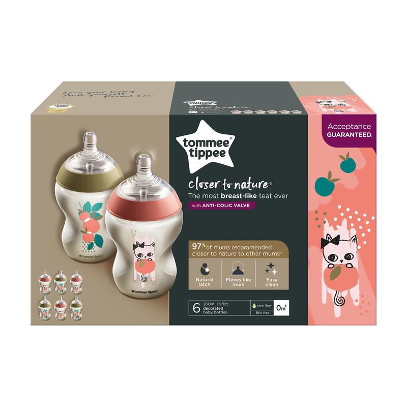 6-x-Tommee-Tippee-Decorated-Baby-Bottles-Closer-to-Nature-260ml-Catch-me-Quick thumbnail 11