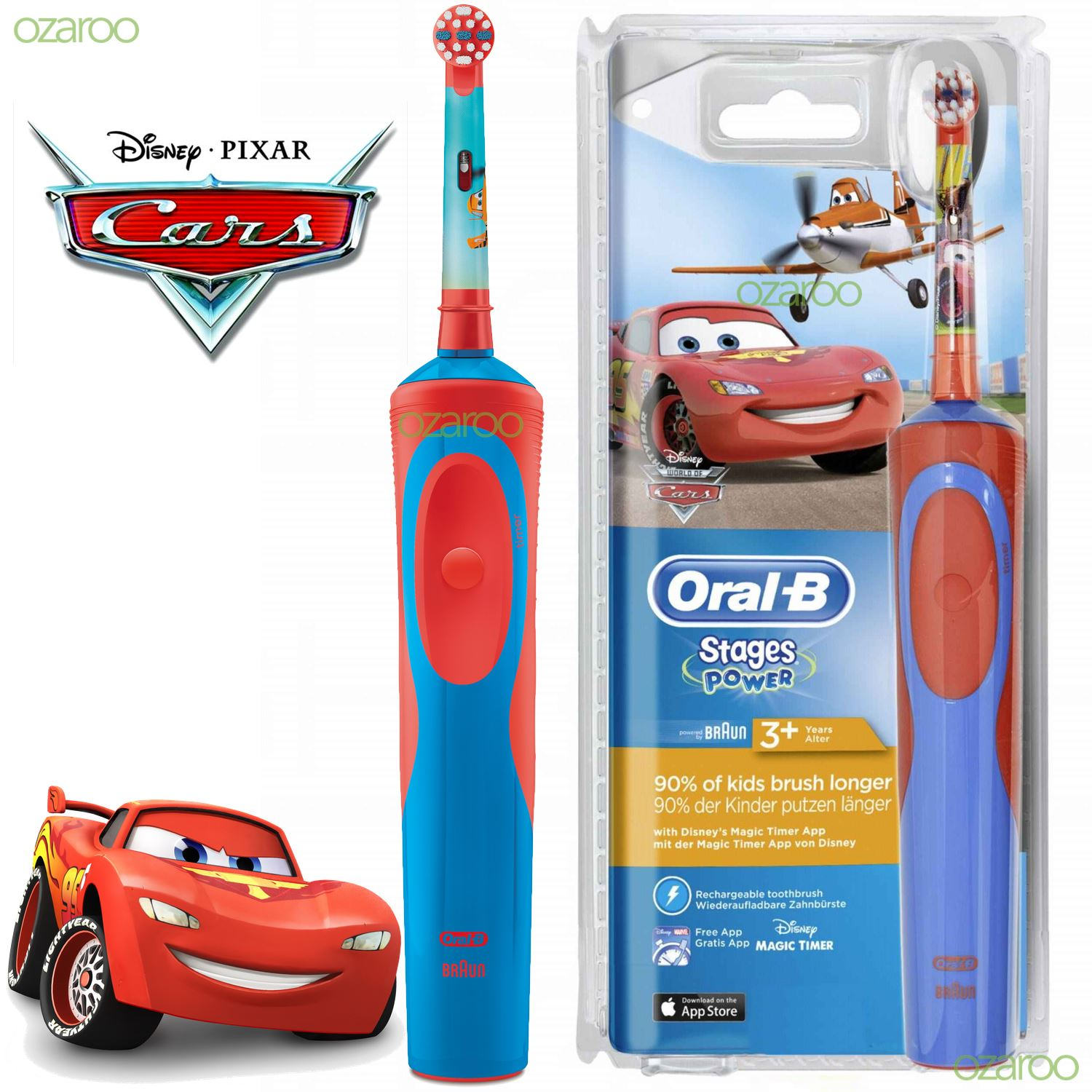 Oral B Pro Health Stages Disney Cars Battery Toothbrush