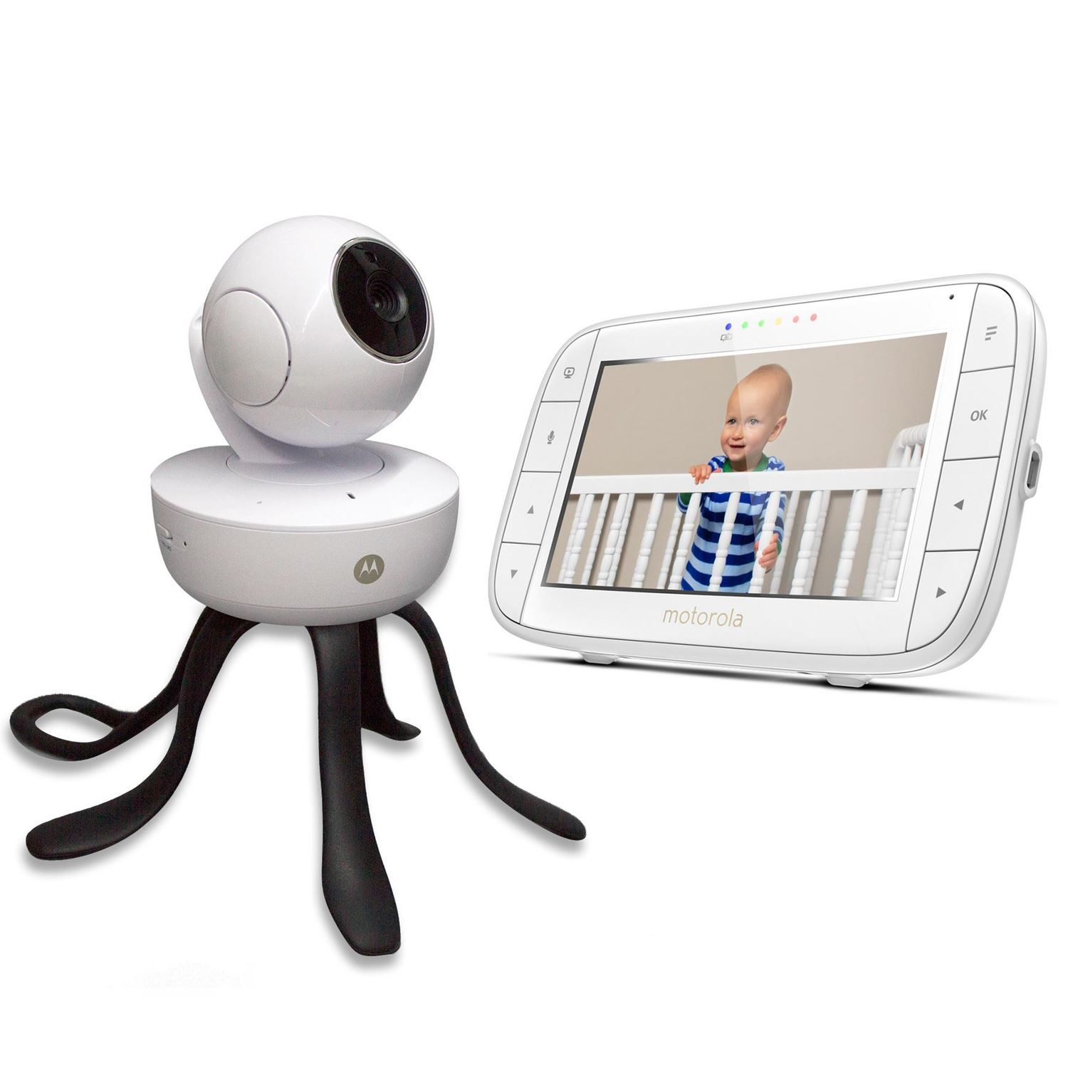 motorola wifi baby monitor. motorola mbp855 connect video baby monitor with portable wi-fi remote access camera, 5 inch wifi r