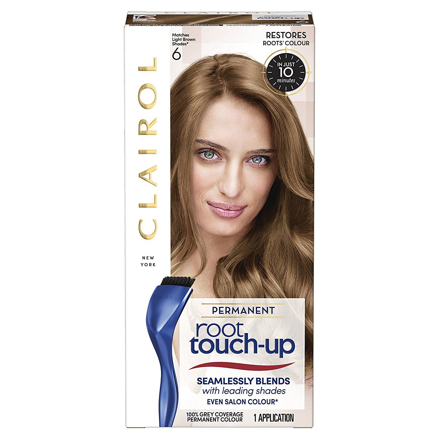 2 Packs Of Clairol Root Touch Up Hair Colouring Number 6 Light Brown