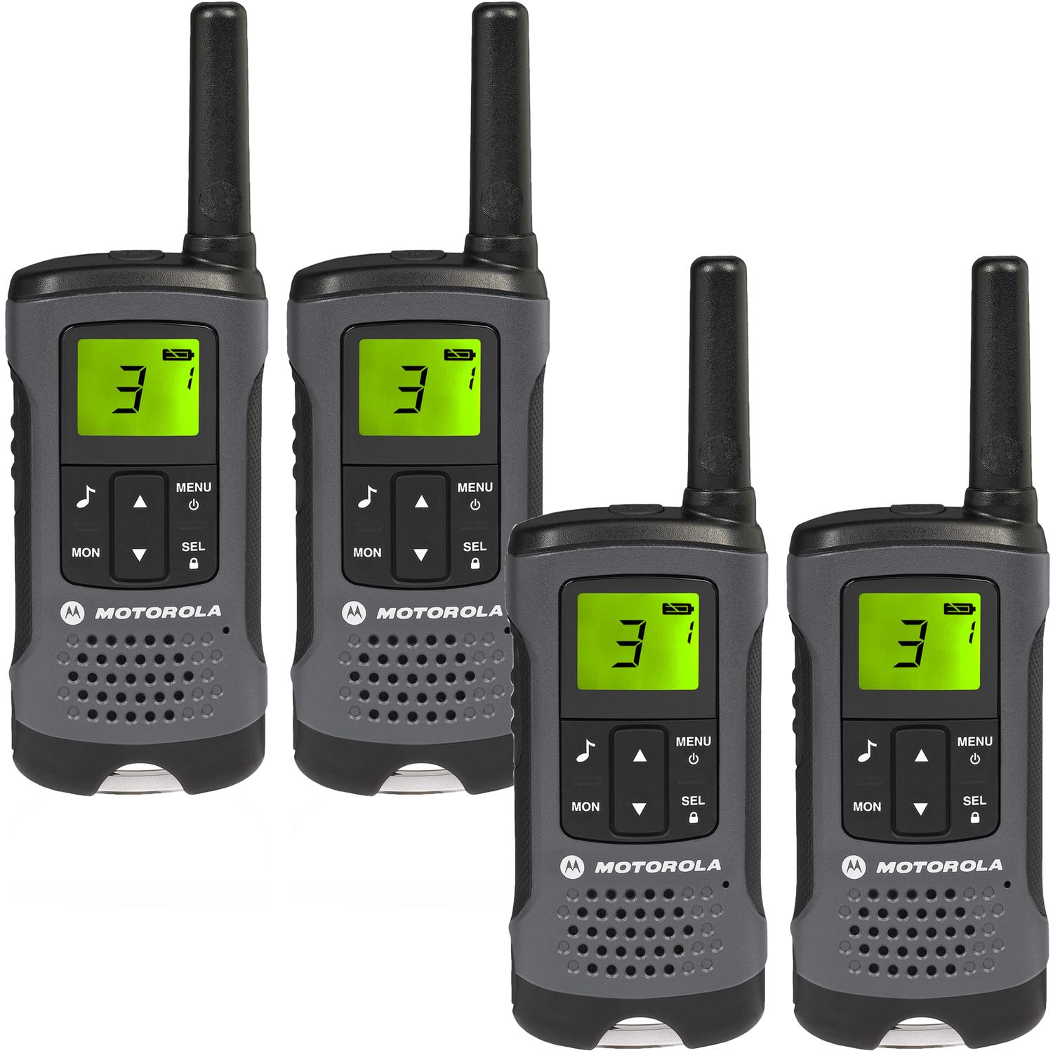 4 motorola tlkr t60z walkie talkie pmr446 rechargeable radio quad pack charger ebay. Black Bedroom Furniture Sets. Home Design Ideas