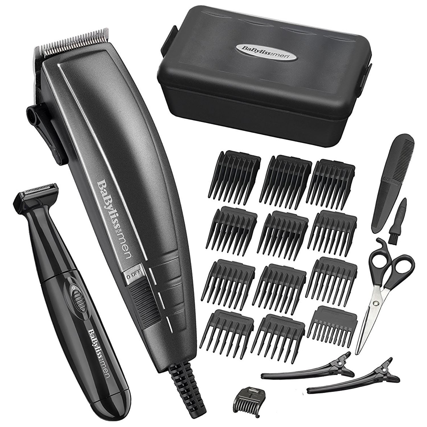 BaByliss Men's Pro Hair Cutting Shaver Clipper Kit with Trim