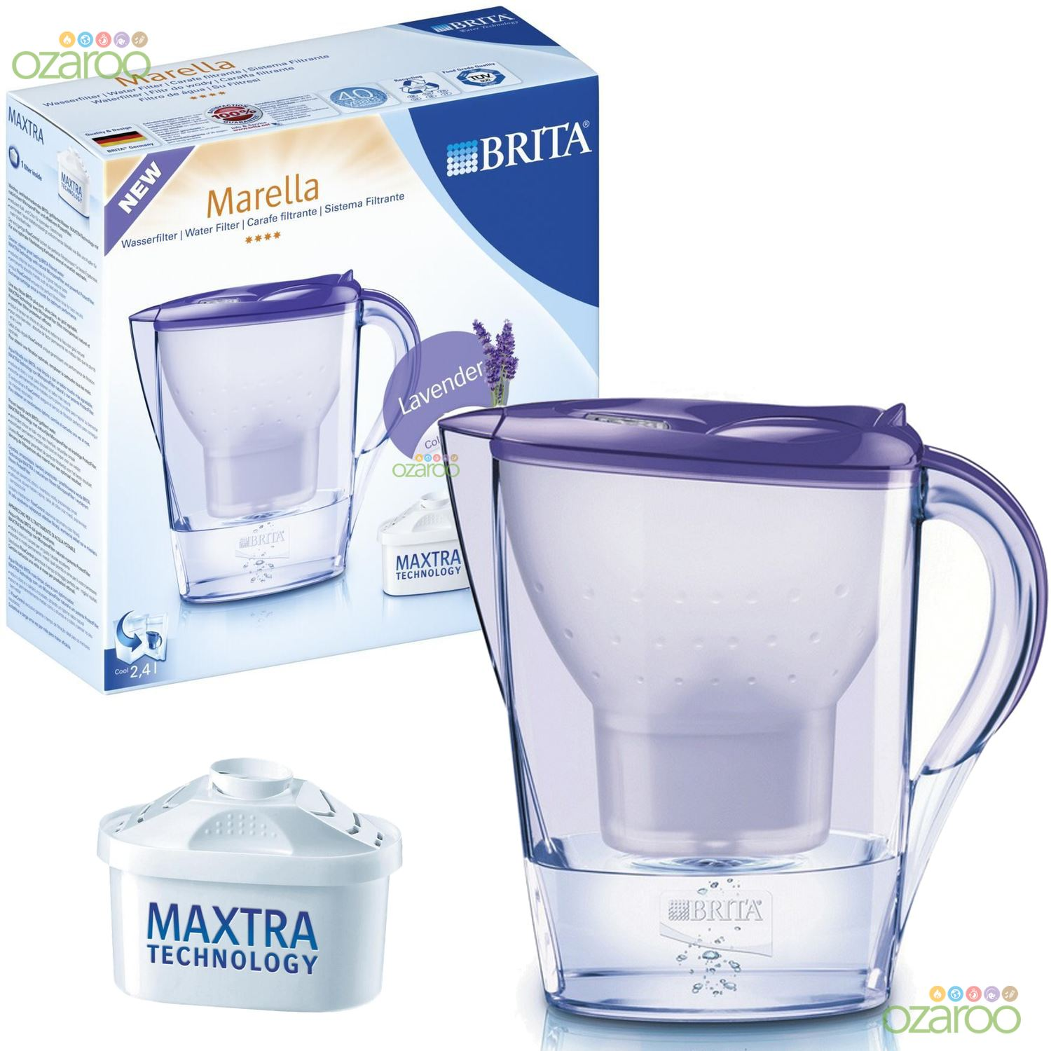 brita colour edition marella water filter jug 3 maxtra. Black Bedroom Furniture Sets. Home Design Ideas