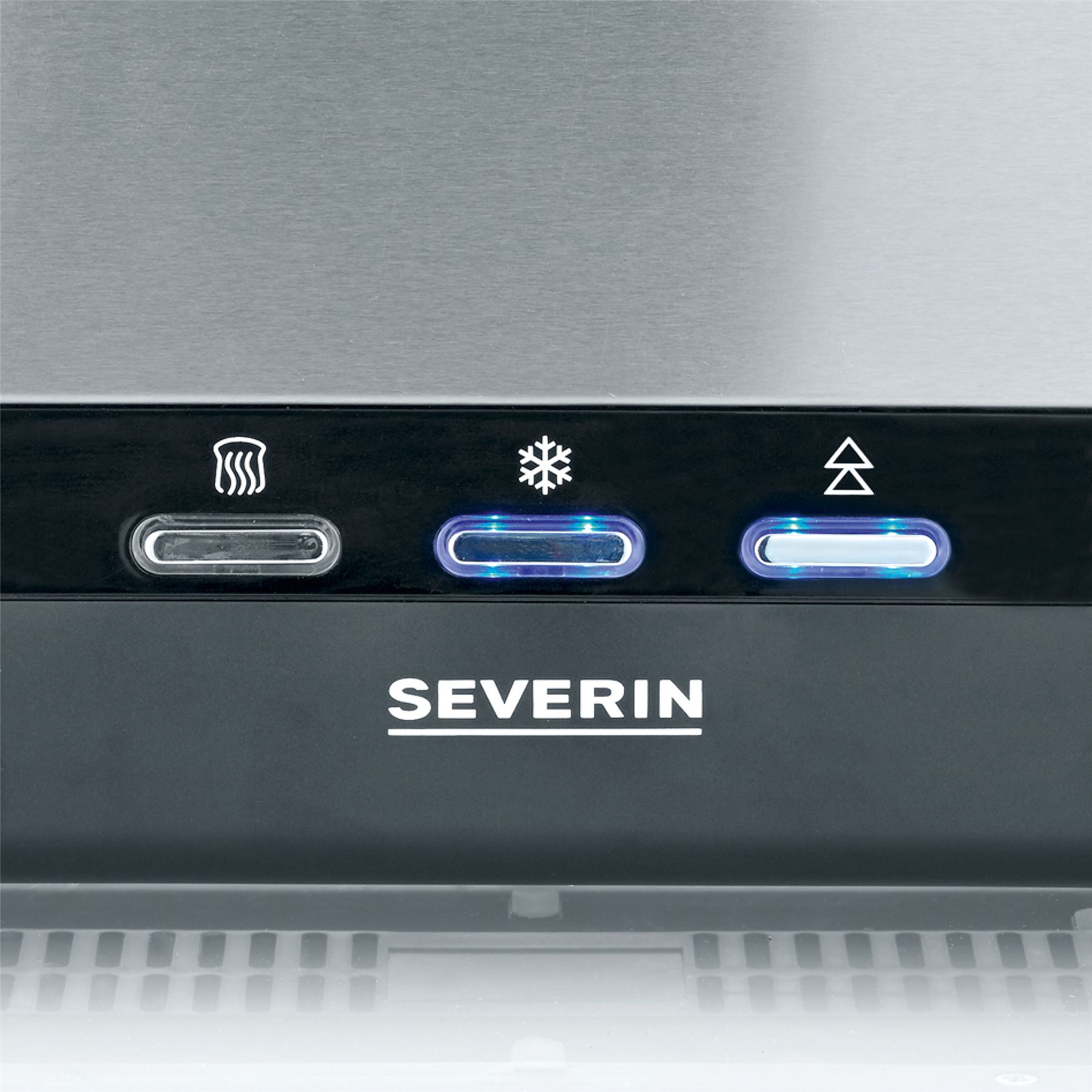 Severin Automatic Long Slot Toaster 2 Slice With Bun Warmer 950W Steel AT2260