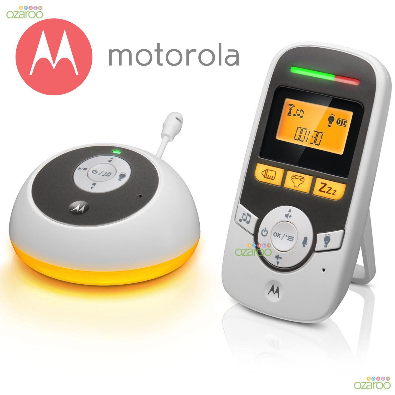 motorola mbp161 wireless portable digital audio baby nursery monitor night light ebay. Black Bedroom Furniture Sets. Home Design Ideas