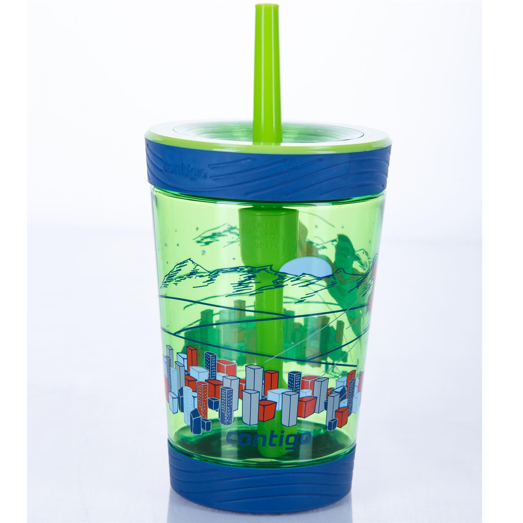 Contigo-Kids-039-Spill-Proof-Tumbler-boissons-bouteille-d-039-eau-avec-paille-BPA-Free-420-ml miniature 3