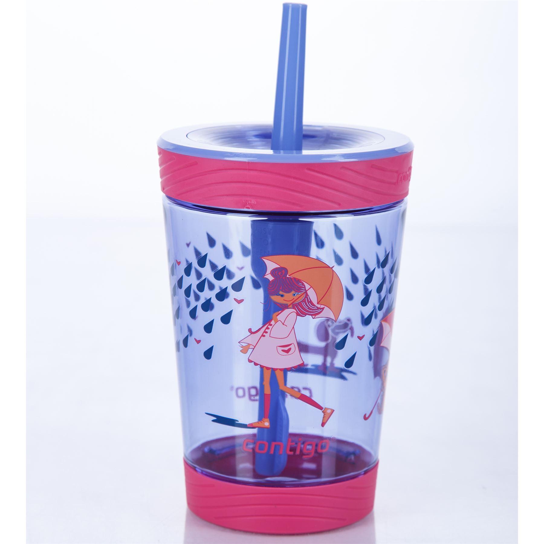 Contigo-Kids-039-Spill-Proof-Tumbler-boissons-bouteille-d-039-eau-avec-paille-BPA-Free-420-ml miniature 7