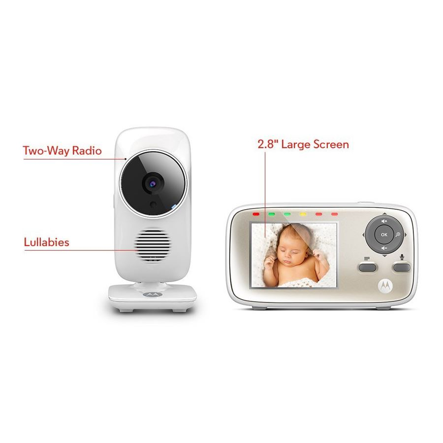 motorola mbp483 digital video baby monitor 2 8 display talk back amp. Black Bedroom Furniture Sets. Home Design Ideas
