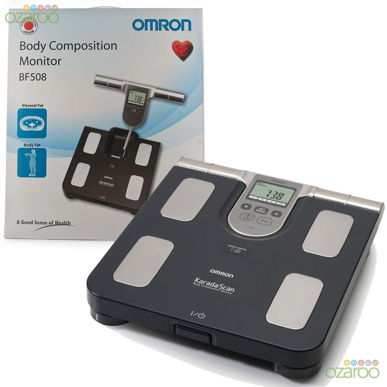 Bmi bathroom scales - Omron Bf508 Body Fat Composition Sensor Monitor Bmi Home Bathroom Weighing Scale Ebay