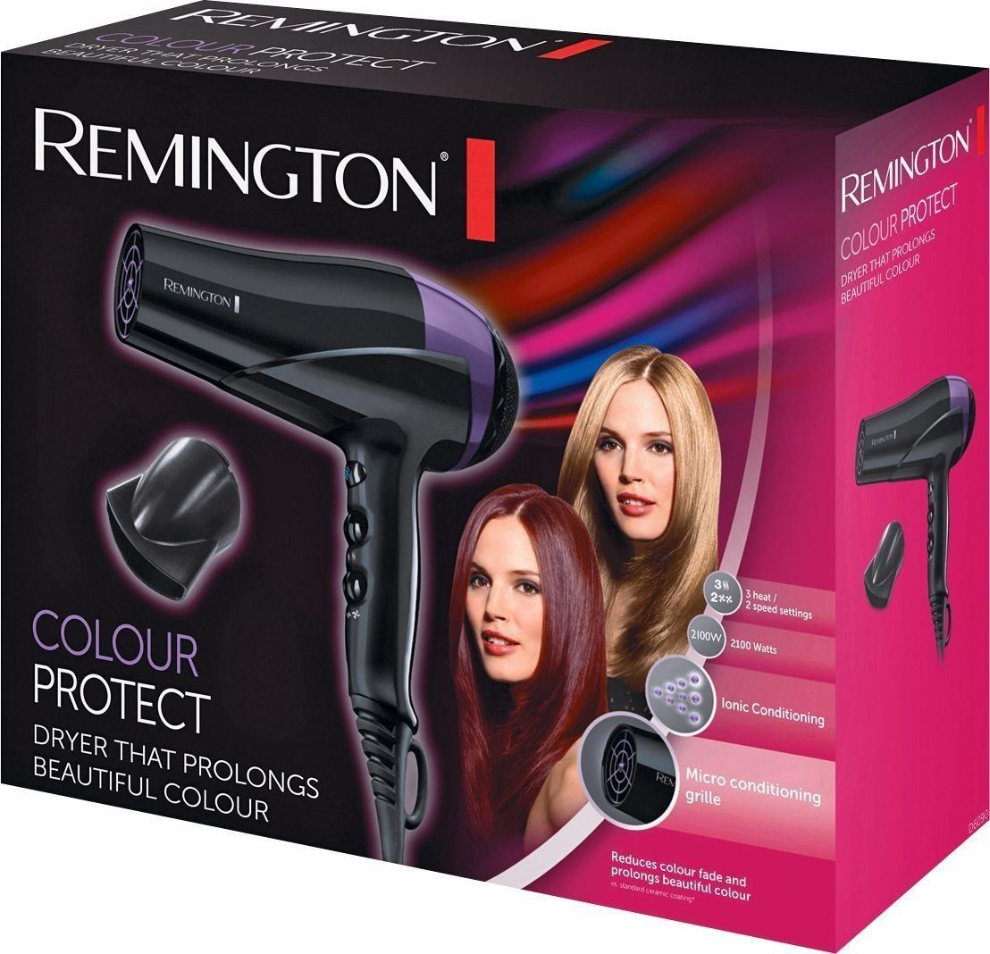 Womens professional ionic conditioning colour protect hair dryer d6090 - Remington D6090 Colour Protect Hair Dryer