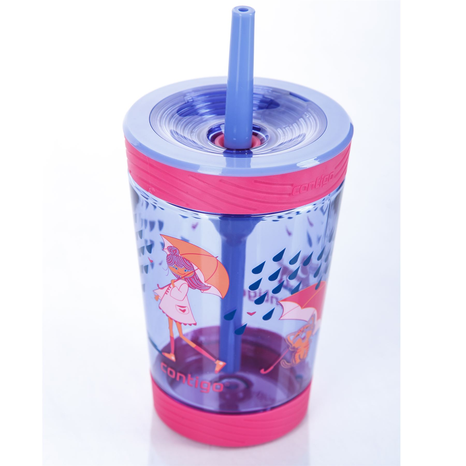 Contigo-Kids-039-Spill-Proof-Tumbler-boissons-bouteille-d-039-eau-avec-paille-BPA-Free-420-ml miniature 5