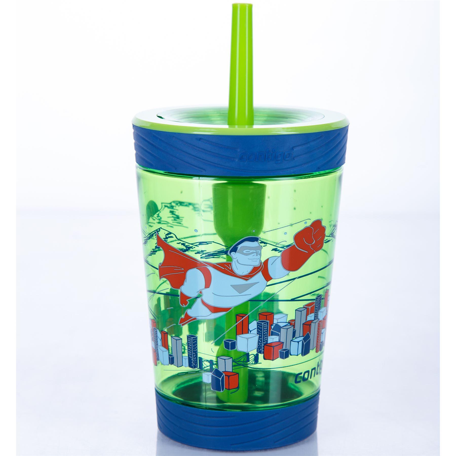 Contigo-Kids-039-Spill-Proof-Tumbler-boissons-bouteille-d-039-eau-avec-paille-BPA-Free-420-ml miniature 4