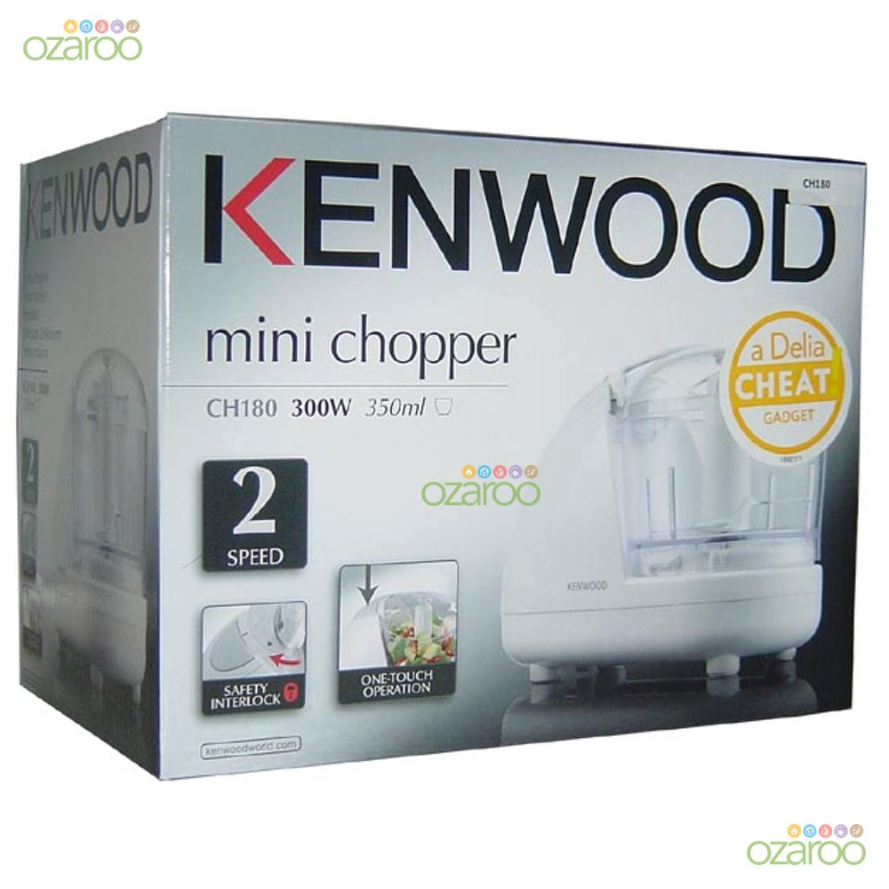 kenwood mini lectrique 2 vitesses hachoir blender processor ch180 300w blanc ebay. Black Bedroom Furniture Sets. Home Design Ideas
