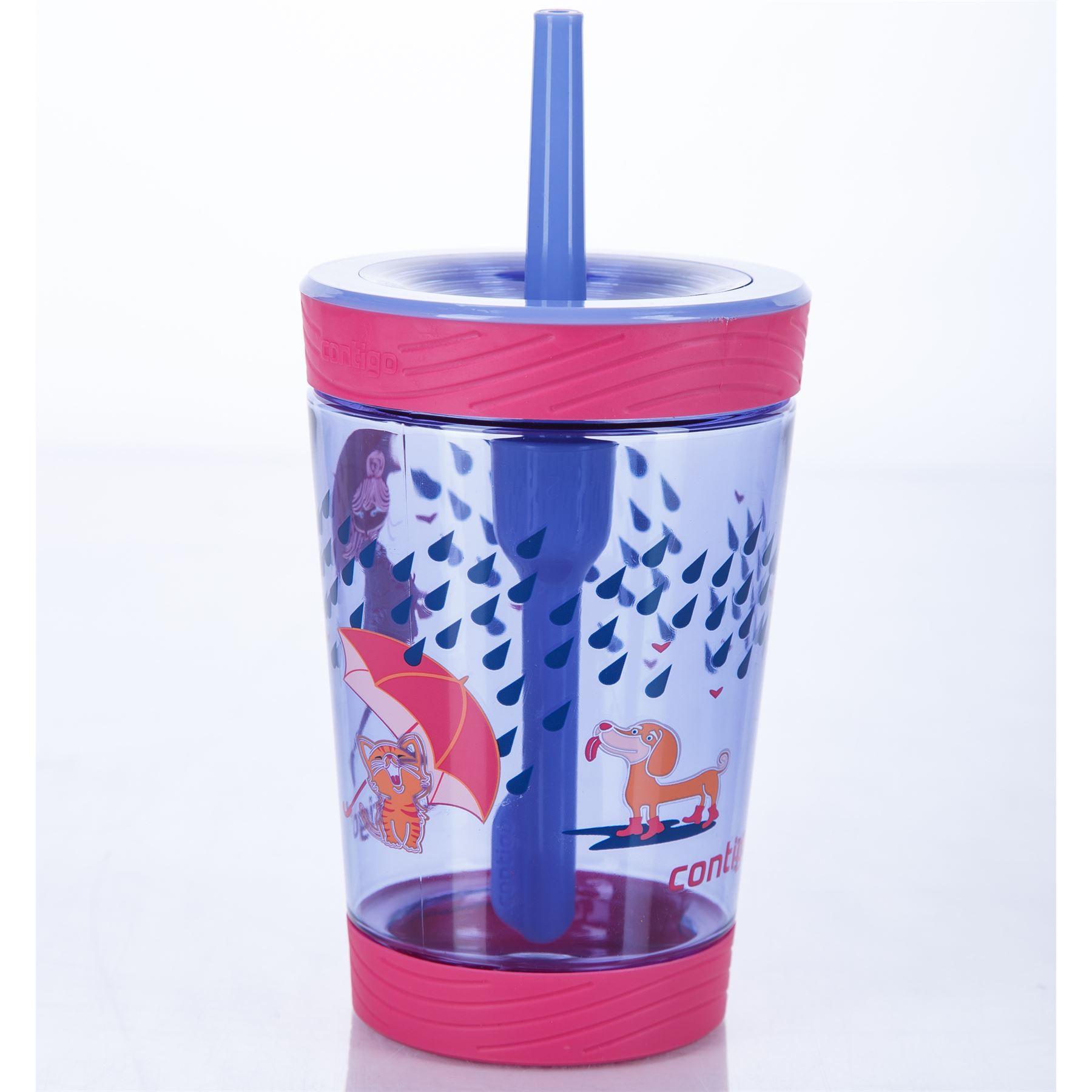 Contigo-Kids-039-Spill-Proof-Tumbler-boissons-bouteille-d-039-eau-avec-paille-BPA-Free-420-ml miniature 6