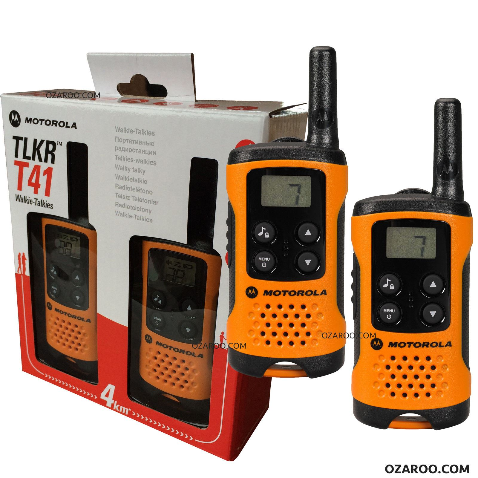 motorola tlkr t41 2 way walkie talkie gift set pmr 446 radio kit orange 2 pack ebay. Black Bedroom Furniture Sets. Home Design Ideas