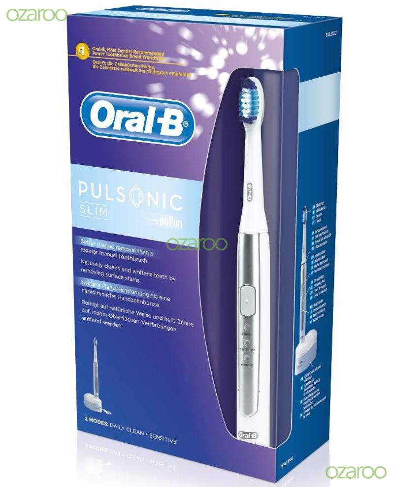 braun oral b pulsonic slim sonic rechargeable vibrate. Black Bedroom Furniture Sets. Home Design Ideas