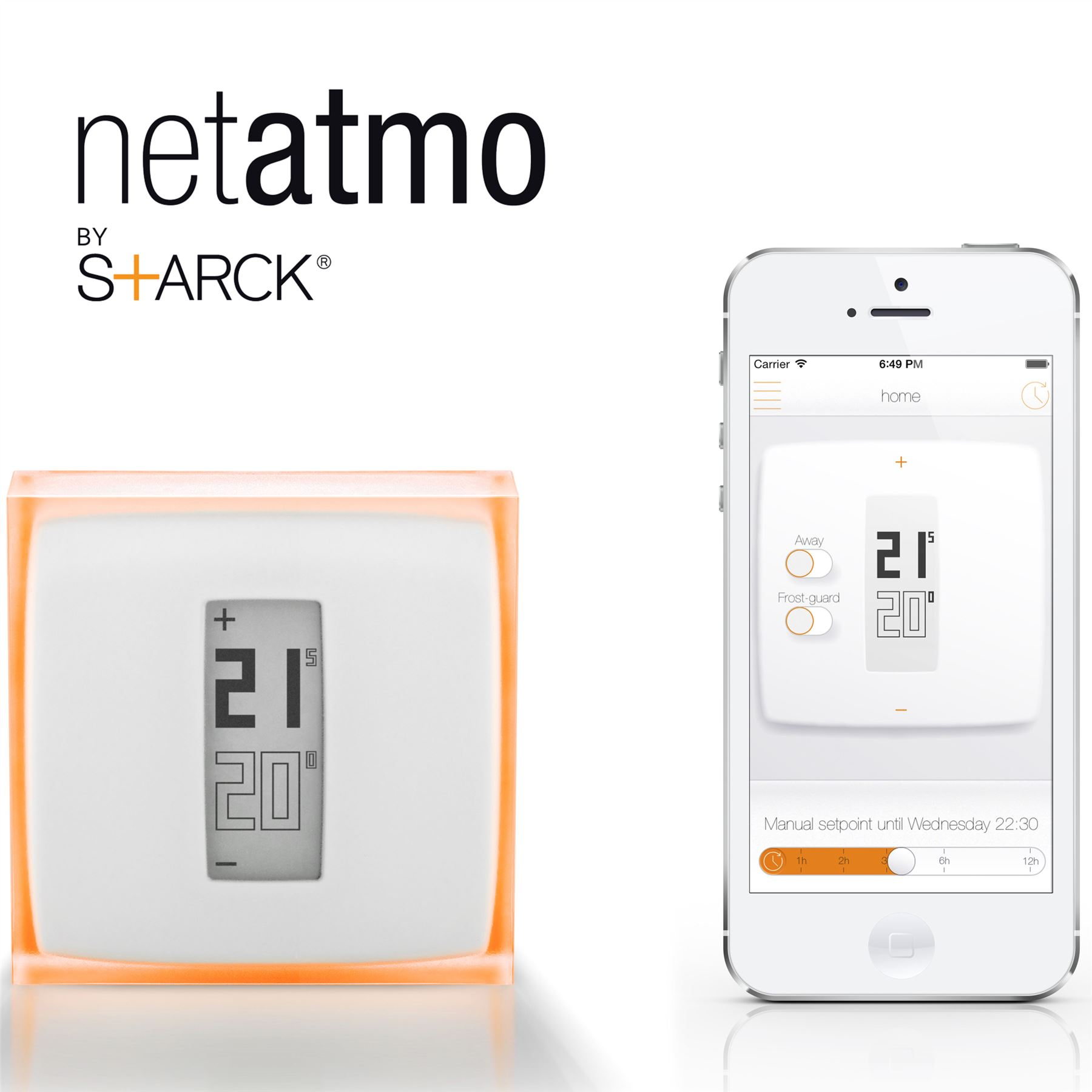 netatmo heizung thermostat f r smartphone mobile kontrolle energiesparende neu ebay. Black Bedroom Furniture Sets. Home Design Ideas