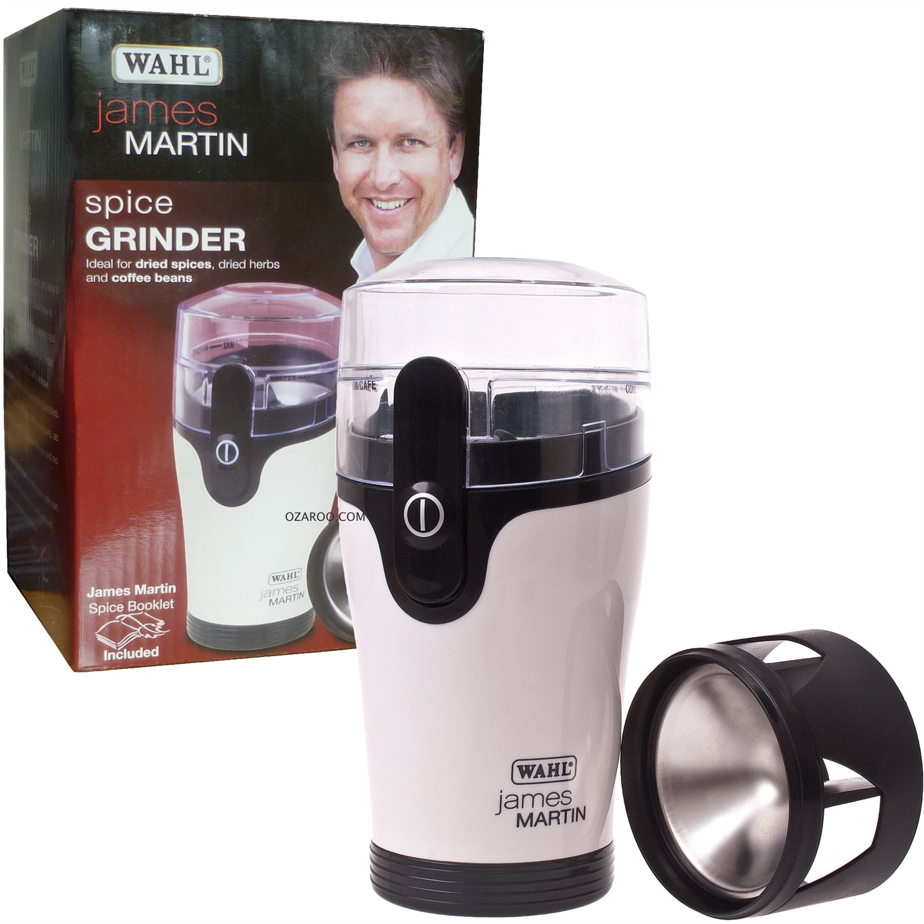 Uncategorized James Martin Kitchen Appliances james martin wahl home kitchen spice grinder white black zx789 with spices recipe booklet black