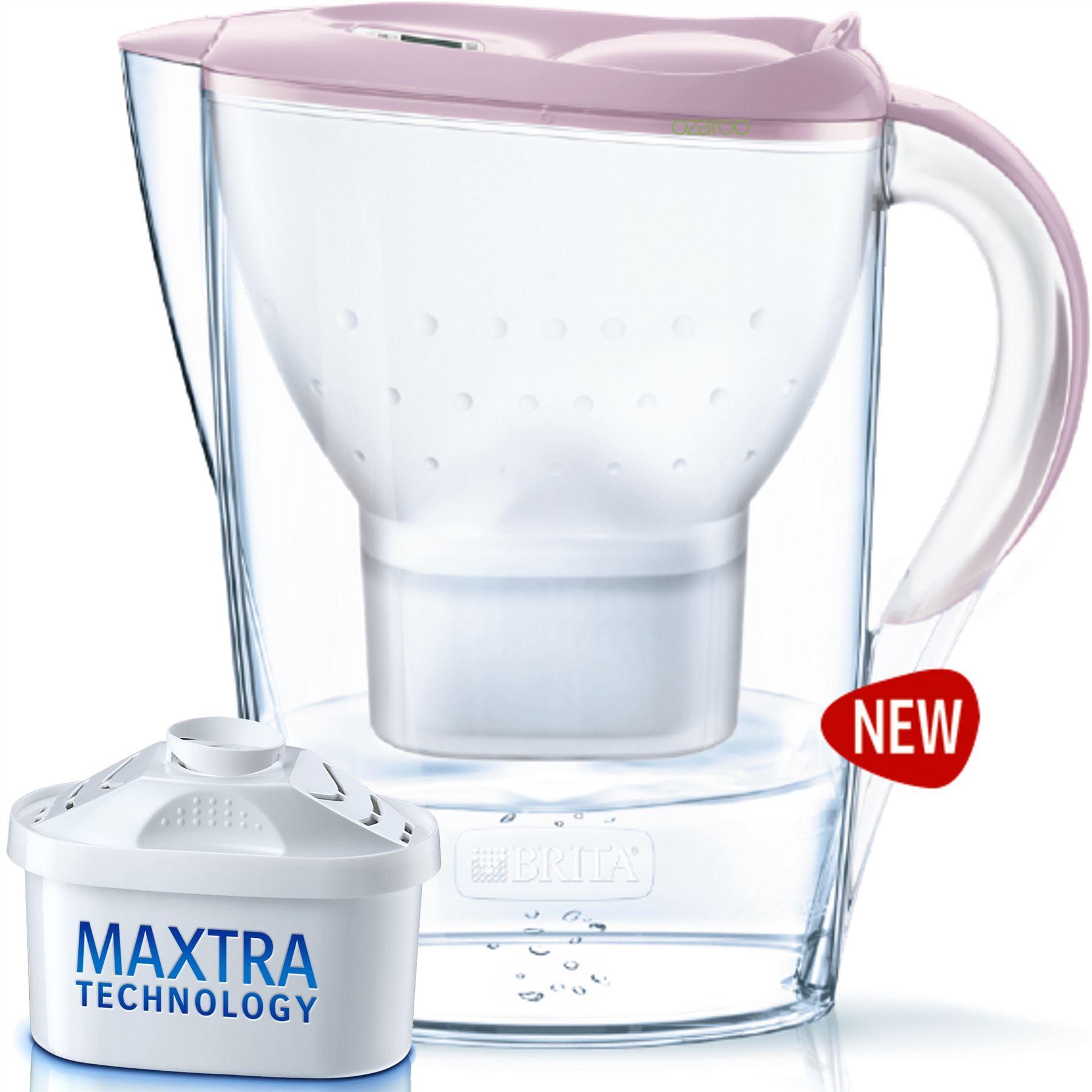 brita marella home fridge water filter jug pastel gentle rose maxtra cartridge ebay. Black Bedroom Furniture Sets. Home Design Ideas