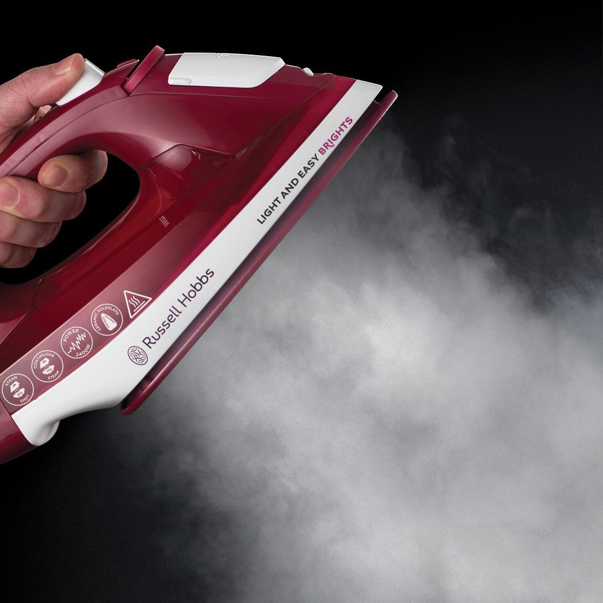 Russell-Hobbs-24840-Light-amp-Easy-Brights-Steam-Iron-with-Ceramic-Soleplate-2400W thumbnail 23