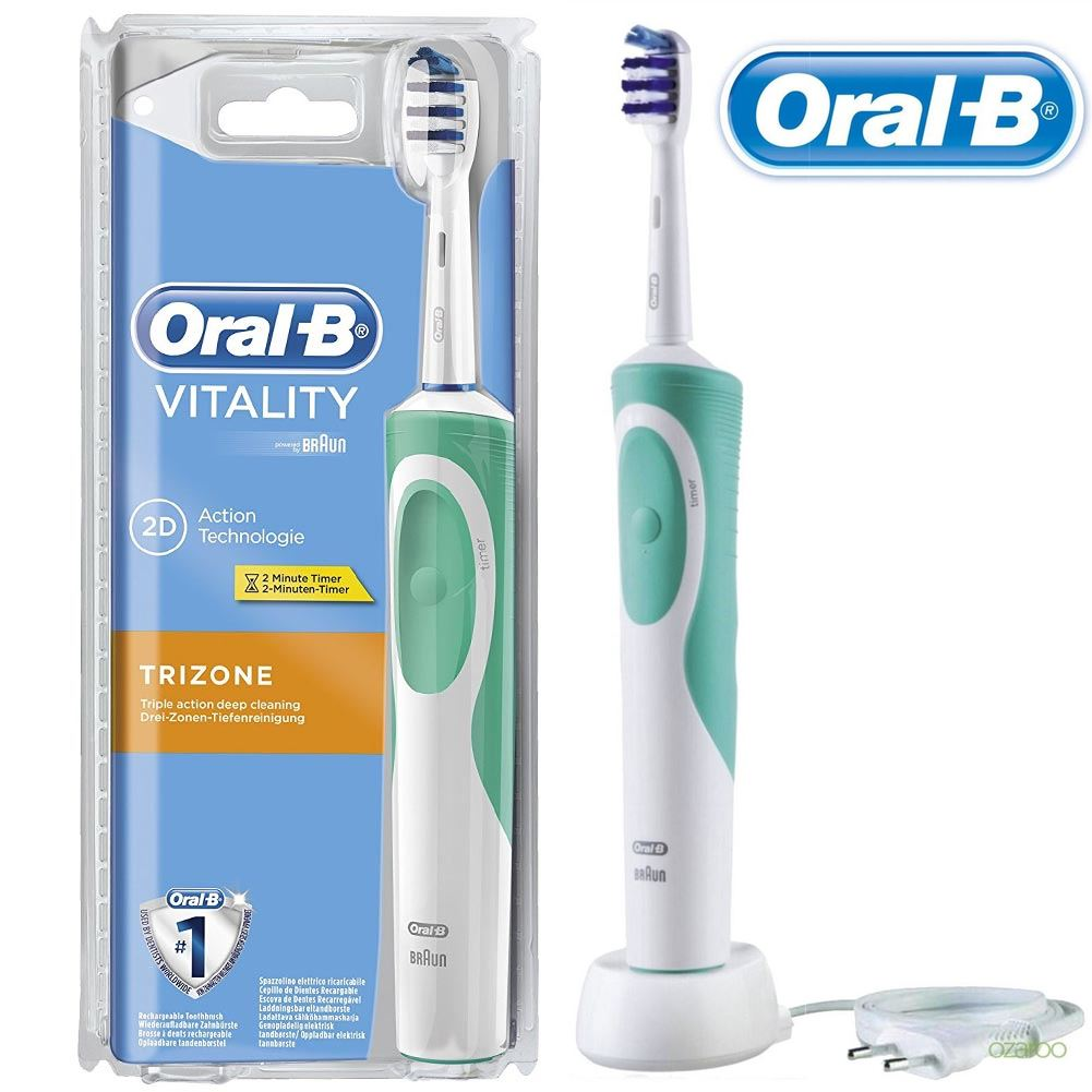 oral b vitality trizone electric rechargeable power. Black Bedroom Furniture Sets. Home Design Ideas